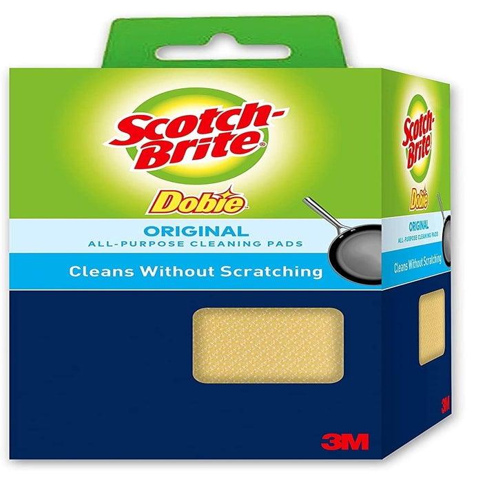 A box of Scotch-Brite Dobie Cleaning Pads