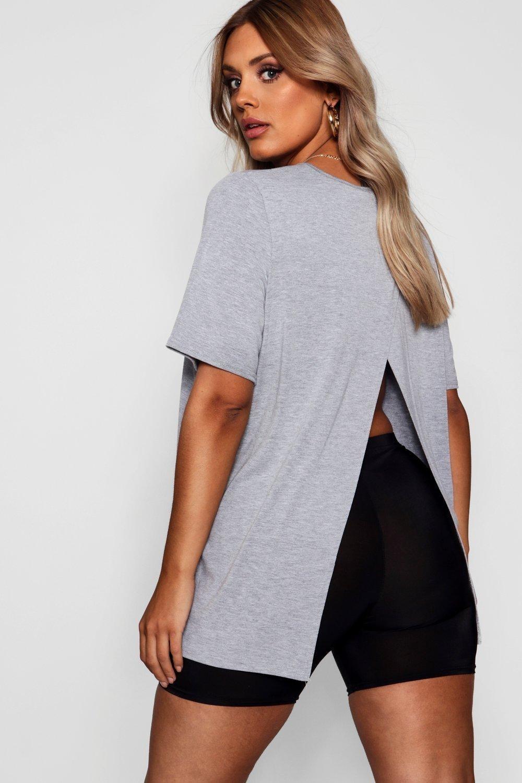 model wearing the gray crewneck top
