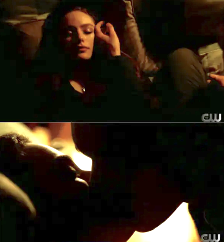 Landon kissing Hope to wake her up on Legacies