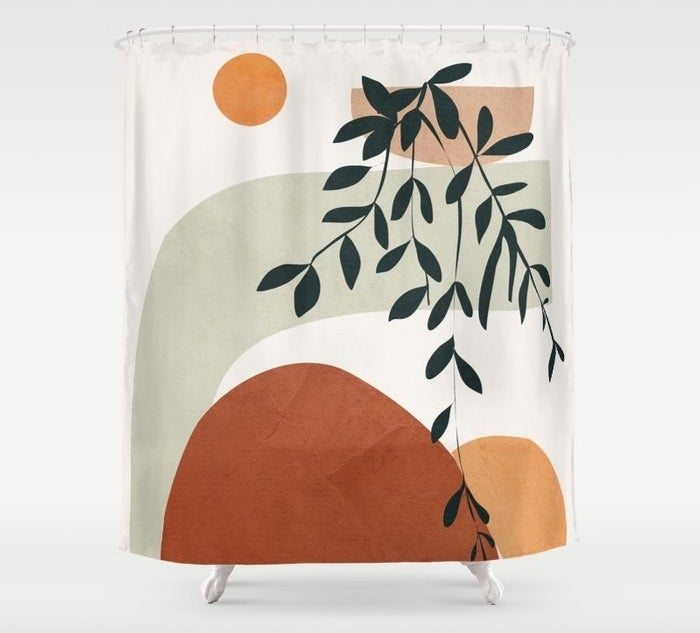 the printed shower curtain