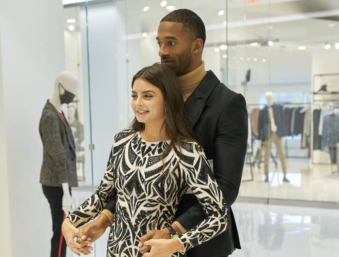 Matt and Rachael on their personal shopping one-on-one date