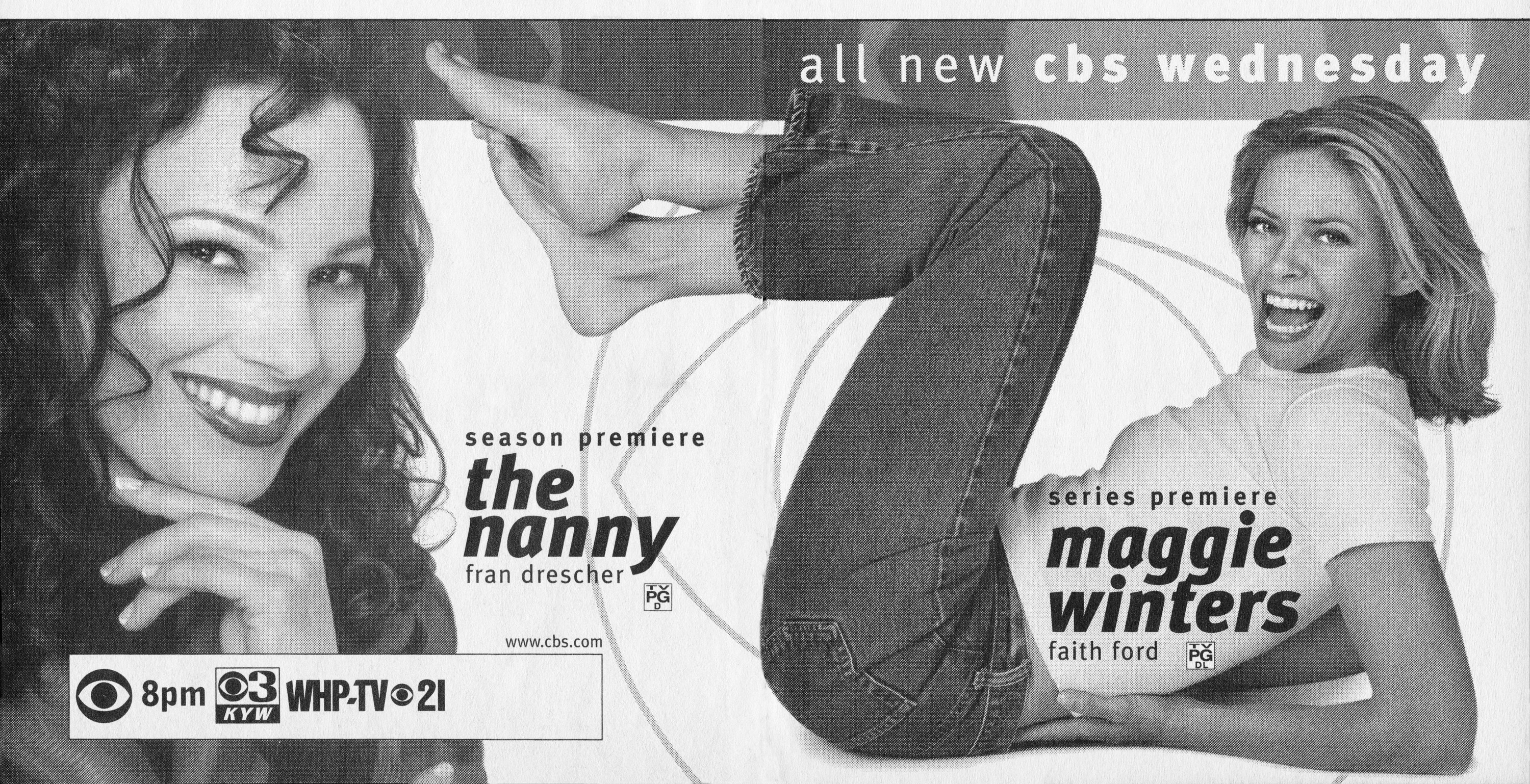 An ad in TV Guide promoting The Nanny and Maggie Winters