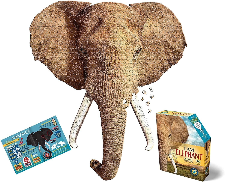 an elephant shaped puzzle