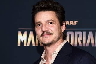 Pedro Pascal posing on the red carpet