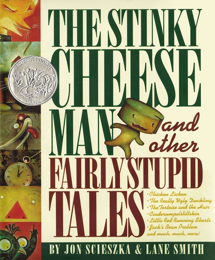 The cover for Stinky Cheese Man and Other Stupid Tales