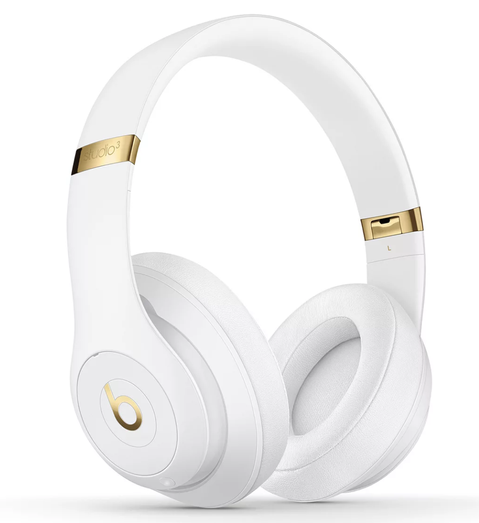 Beats studio3 wireless headphones in white