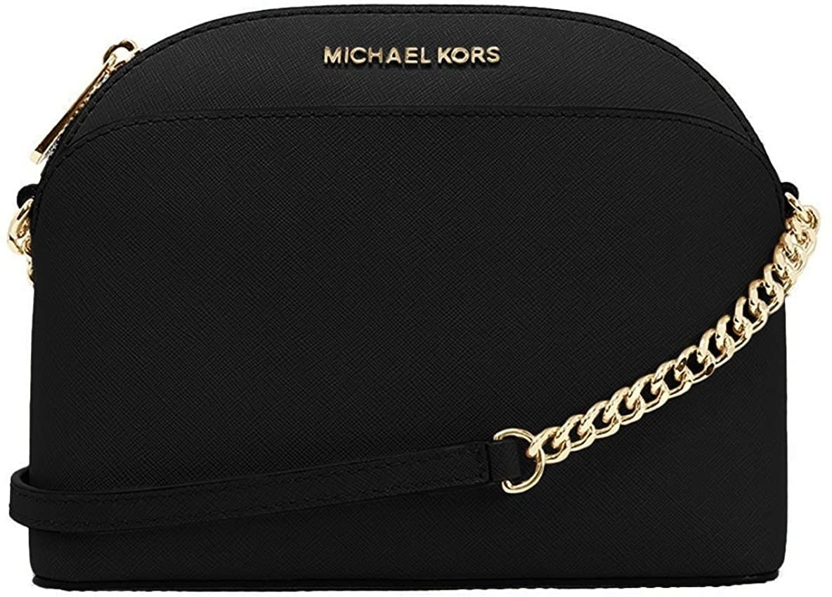 the black bag which has gold hardware