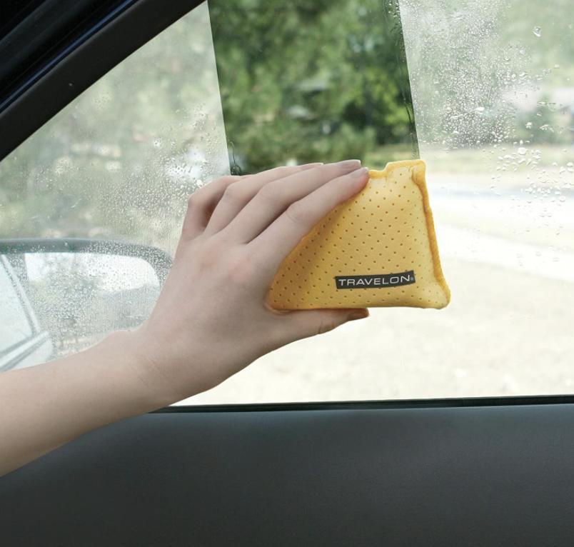 windshield defogger sponge used on car windows