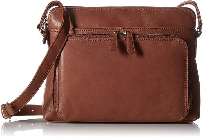 the leather bag in toffee