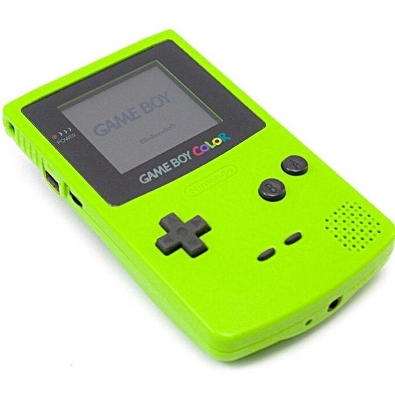 A lime green Game Boy Color