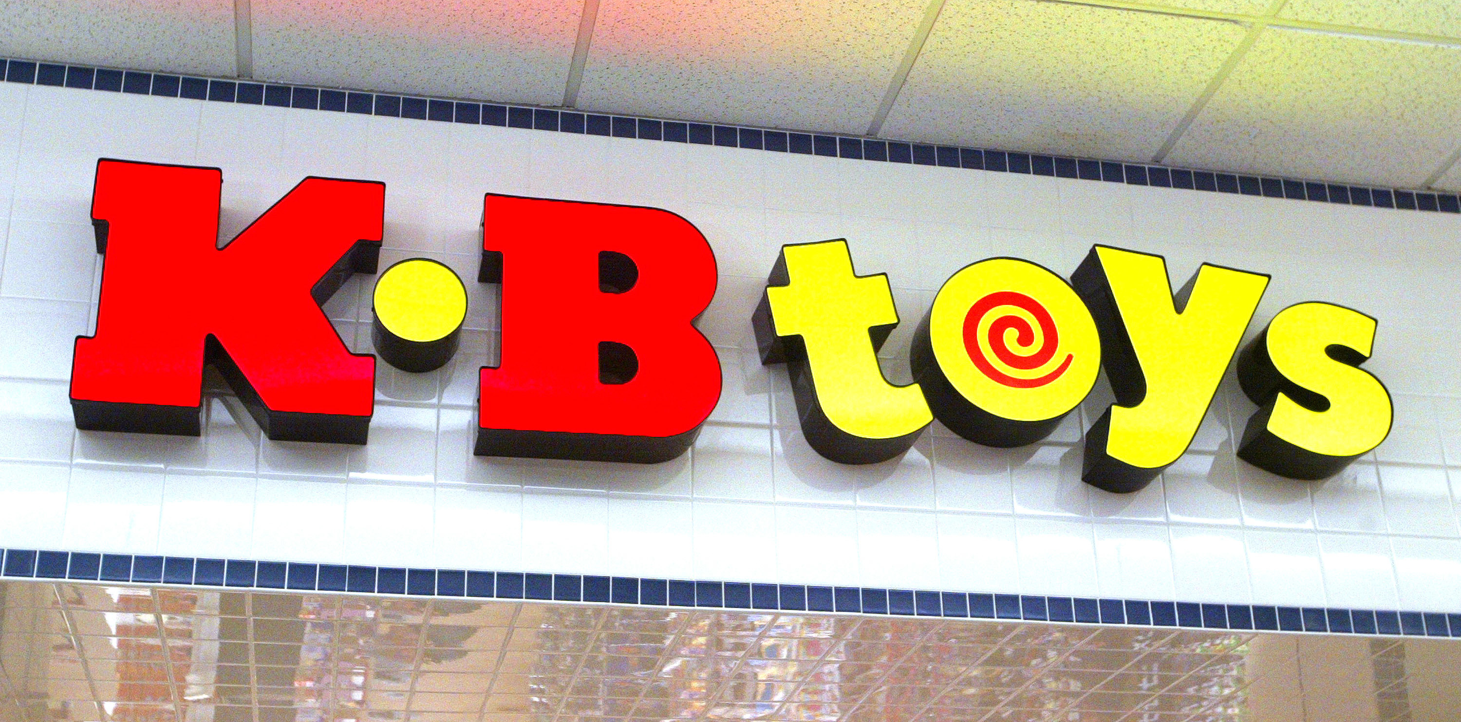 The red and yellow sign for KB Toys
