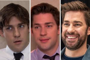 John Krasinski in the first episode of The Office, the last episode of The Office, and in 2020