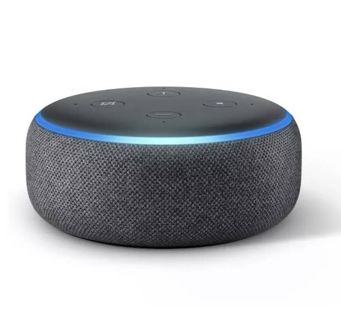 the echo dot in charcoal