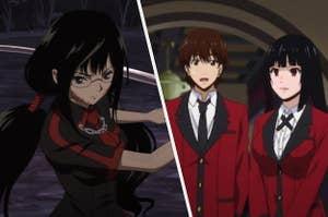 Screencaps from Blood-C and Kakegurui