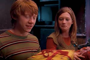 Ron and Ginny Weasley