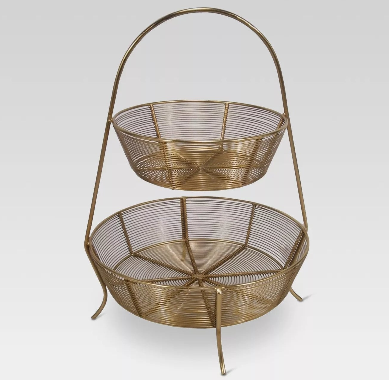 two-tiered wire basket