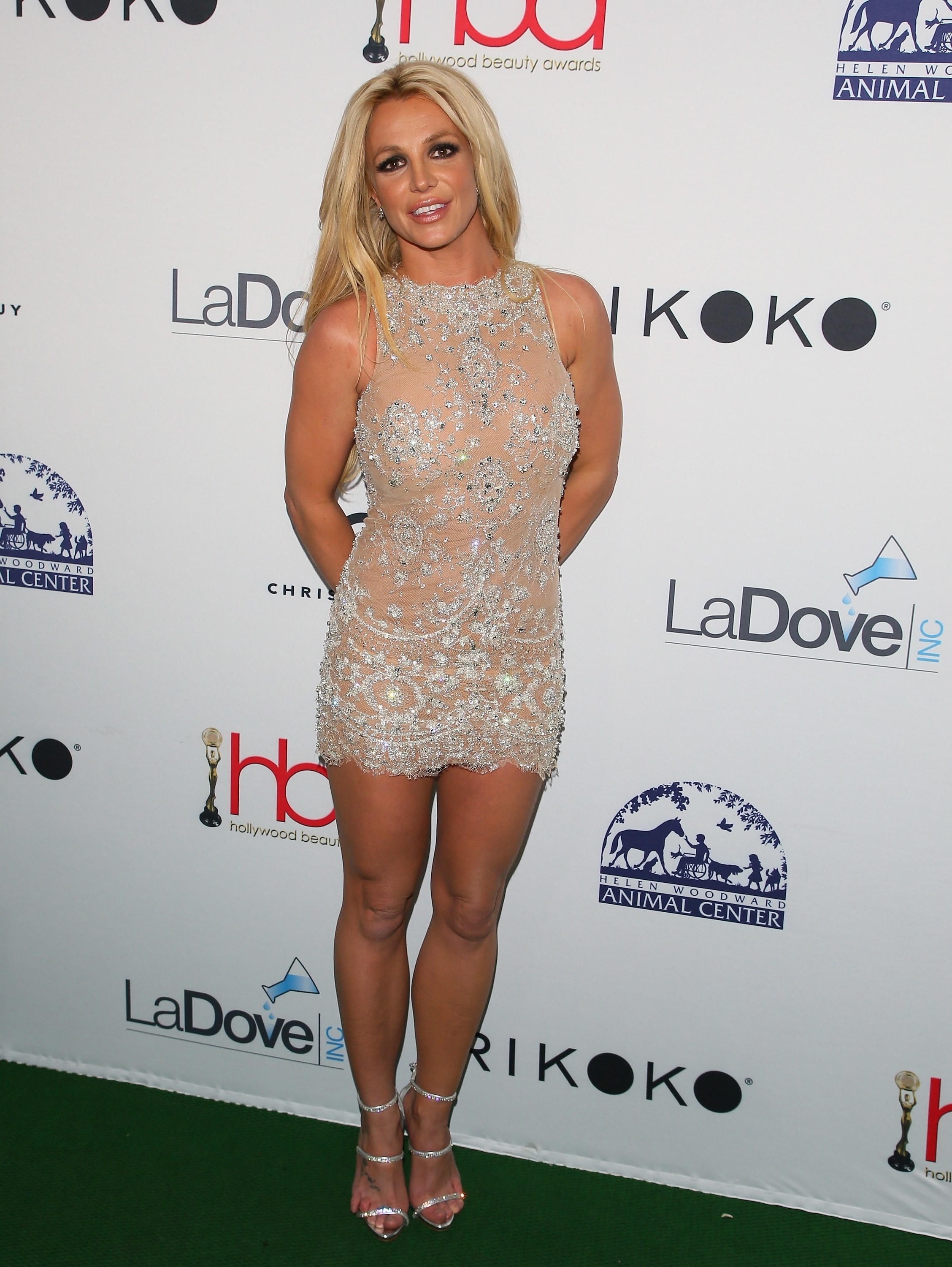 Spears on the red carpet at the Hollywood Beauty Awards in 2018