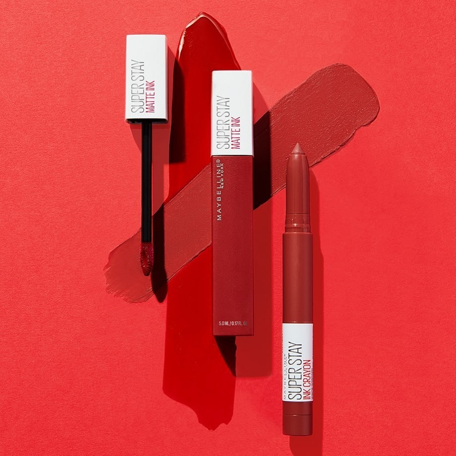 The liquid lipstick in bright red