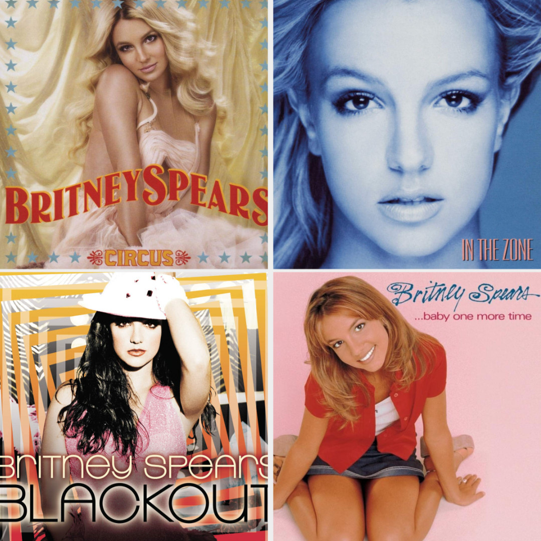 Screenshots of Britney Spears albums