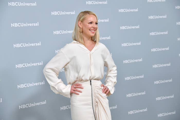 Heigl on the red carpet at the 2018 NBC Universal upfronts in New York City