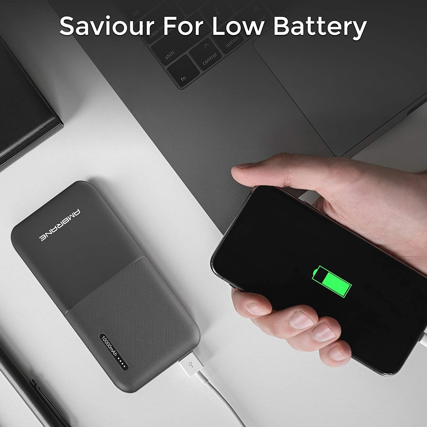 A phone using a fast charger to charge