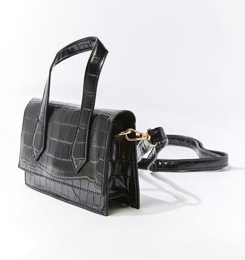 The black crossbody with a top handle and removable strap