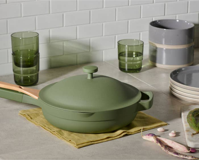 The pan in sage