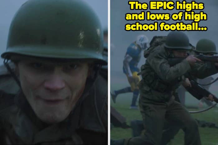 Archie fighting a war on the Riverdale high football field