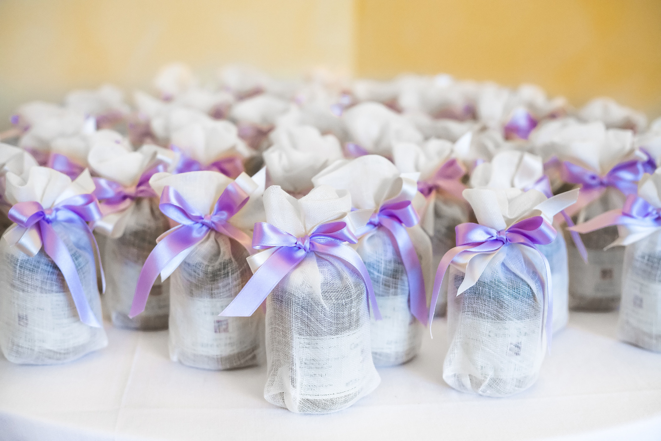 Wedding favors in tiny gift bags