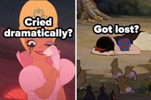 cried dramatically? got lost?
