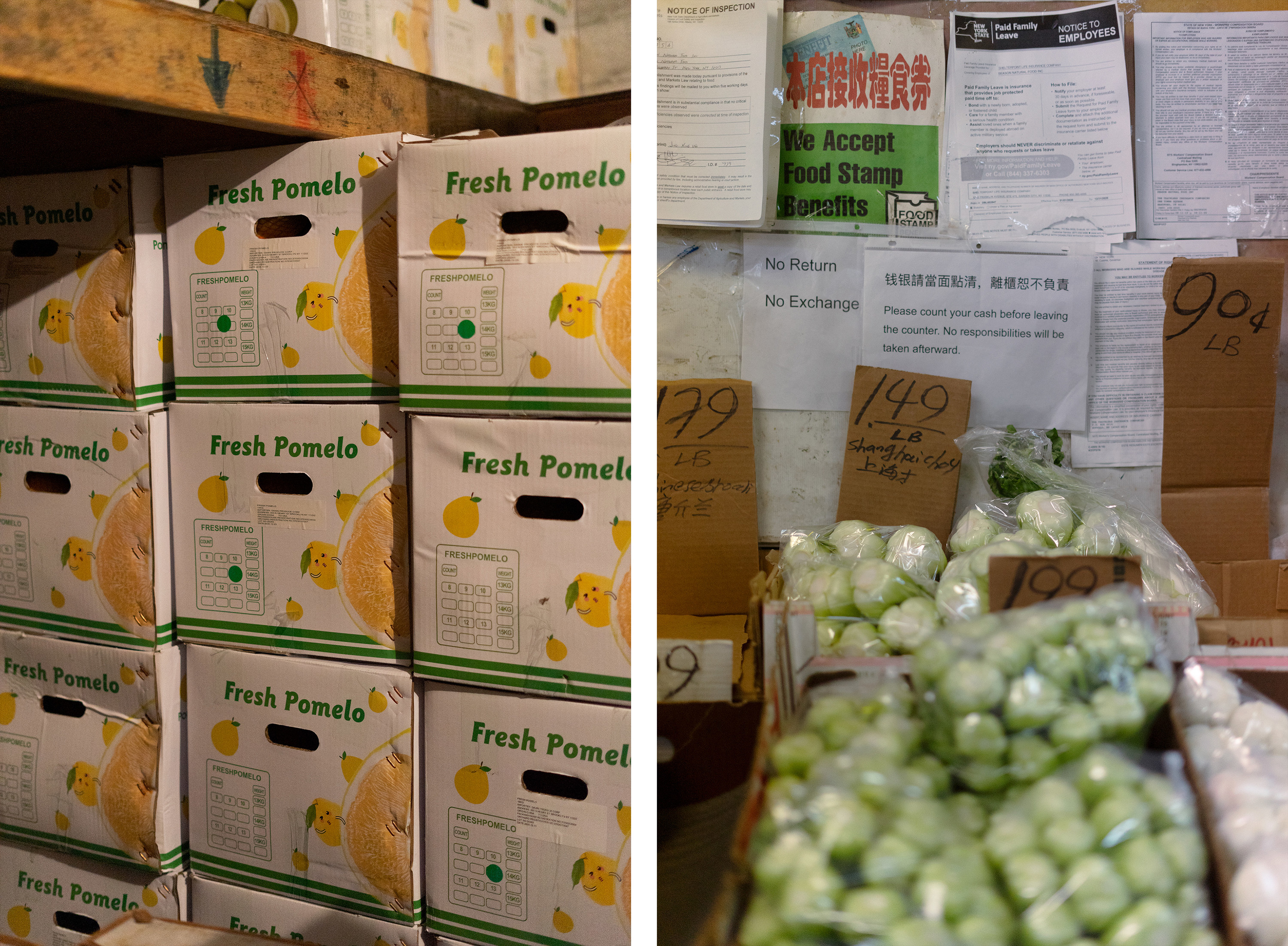 Boxes of produce and vegetables