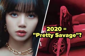 blackpink in their music video for pretty savage