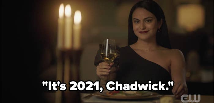 Veronica with the caption, It's 2021 chadwick