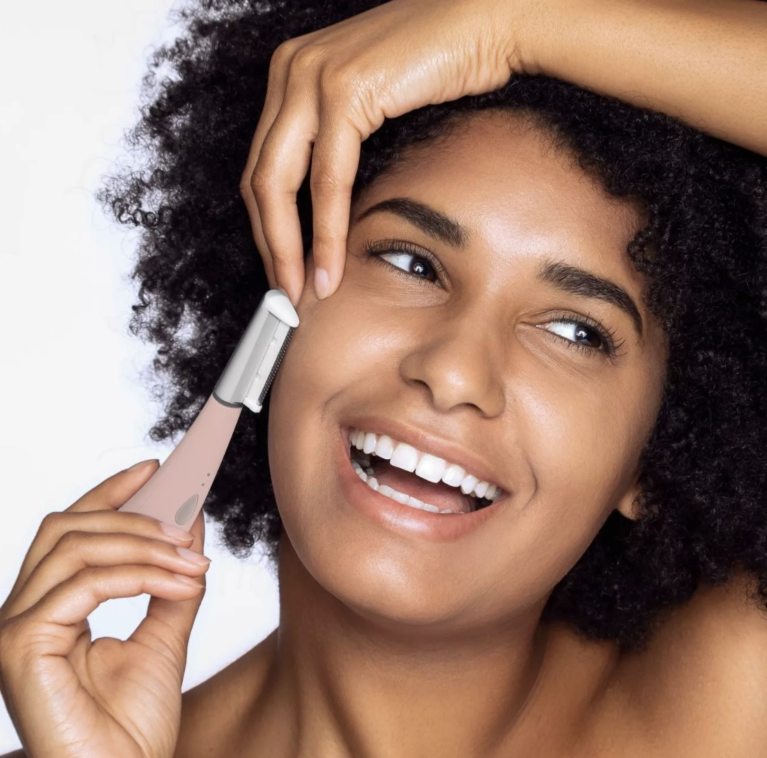 a person using the dermaplanning tool