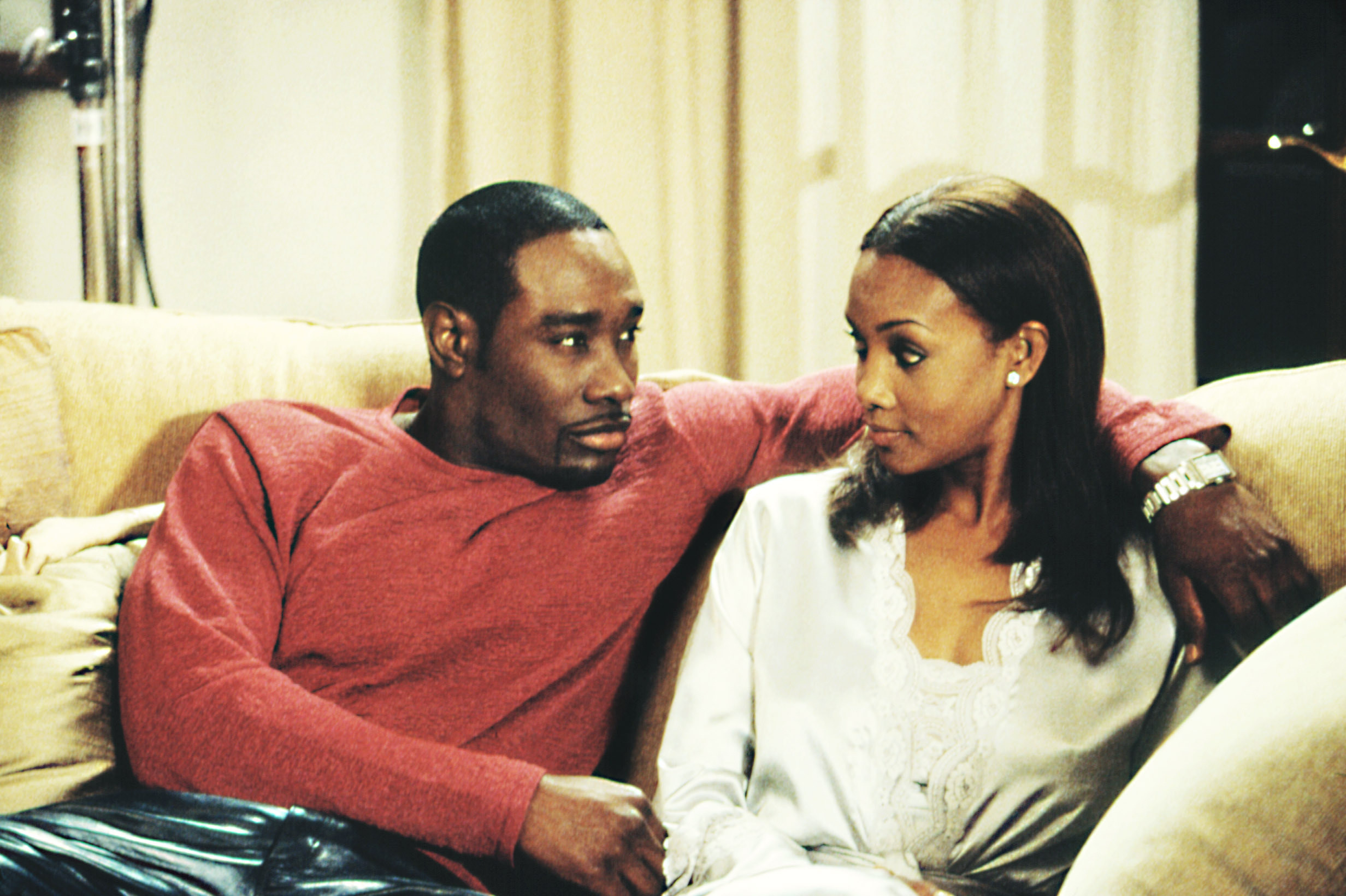 """Morris Chestnut and Vivica A. Fox in """"Two Can Play That Game"""""""