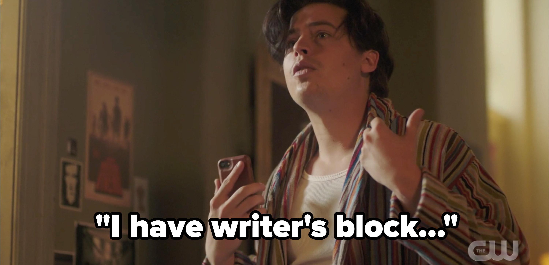 Jughead saying he has writer's block