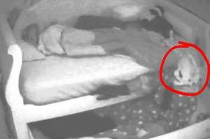 A Killer Clown hiding under a child's bed