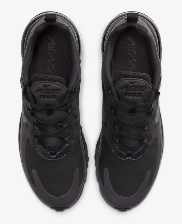 nike air max sneakers in all black