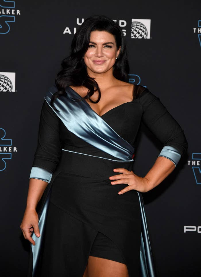 Gina Carano at the premiere of Star Wars: The Rise of Skywalker in Hollywood