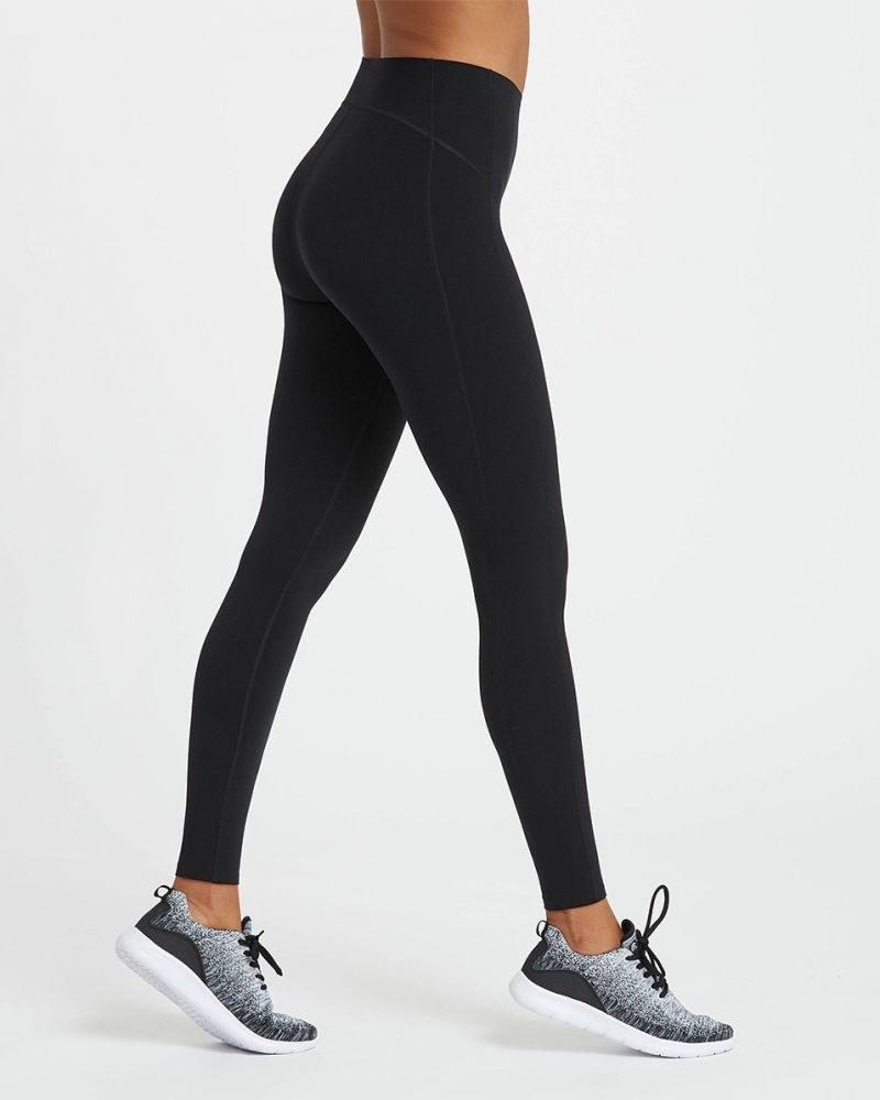 A model walking in the leggings
