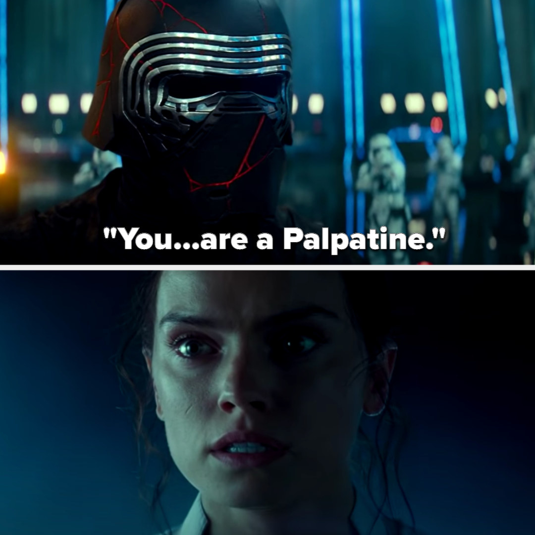 Kylo tells Rey she's a Palpatine