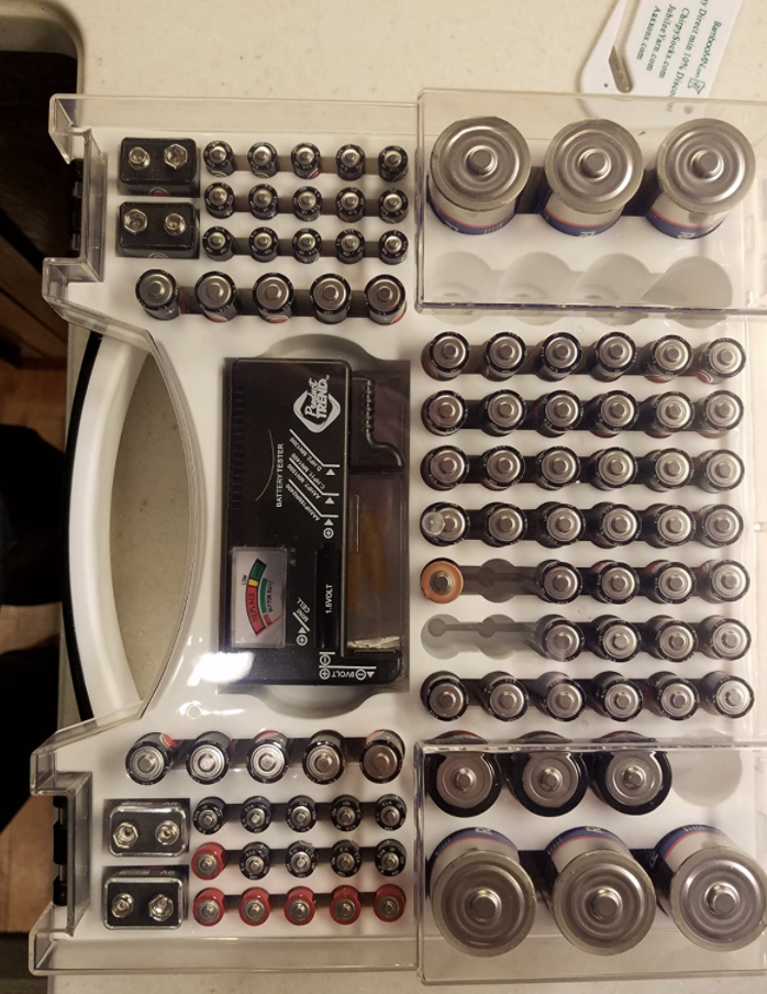 reviewer image of battery storage organizer
