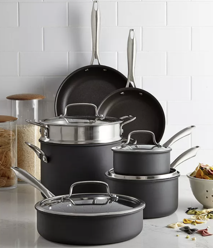 cuisinart 11 piece cookware set