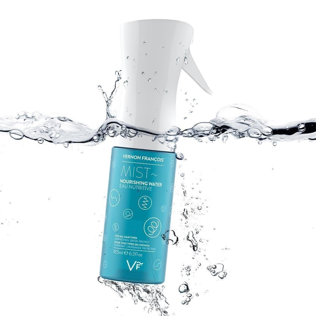 the mist spray bottle in water