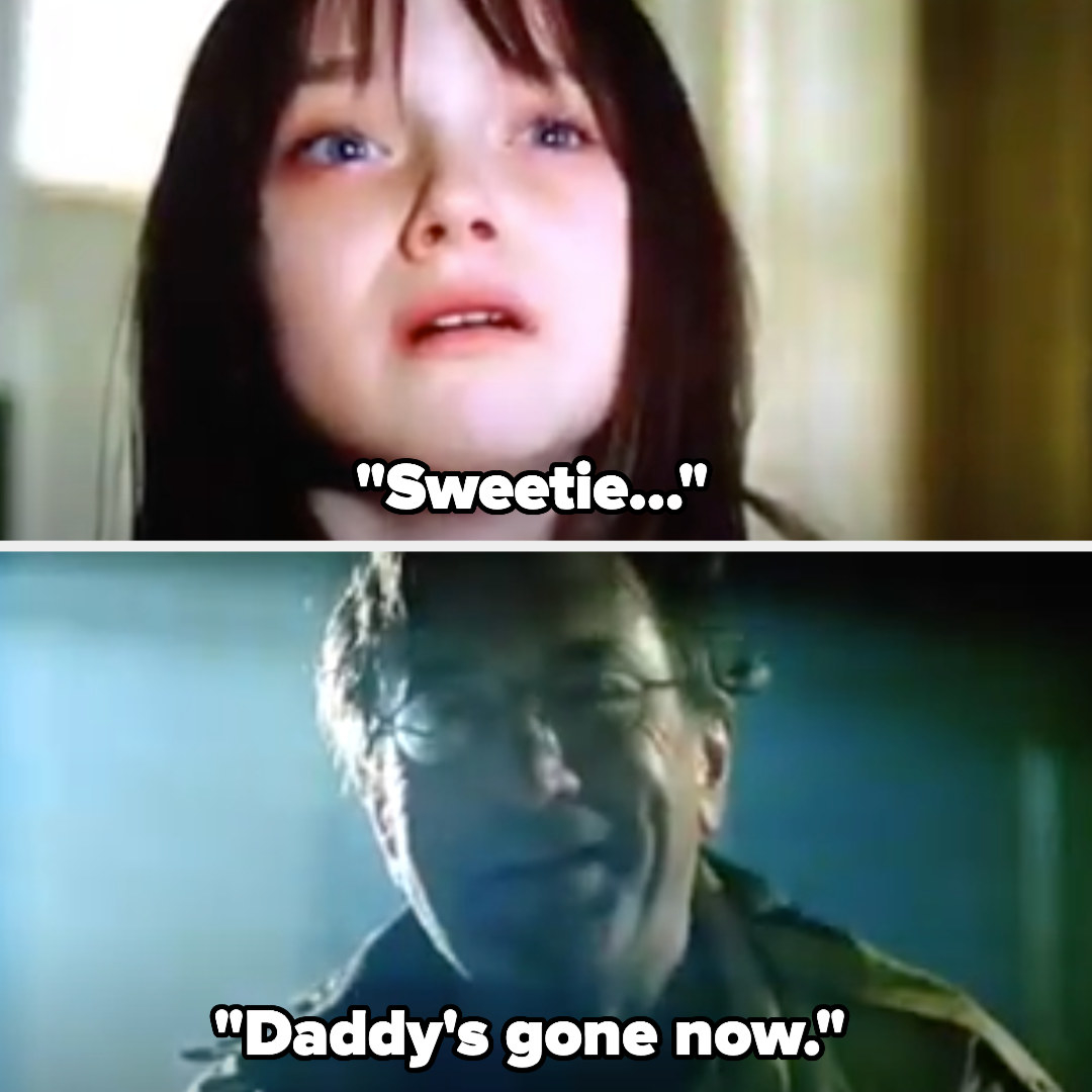 """David, now completely Charlie, tells Emily """"Daddy's gone now"""""""