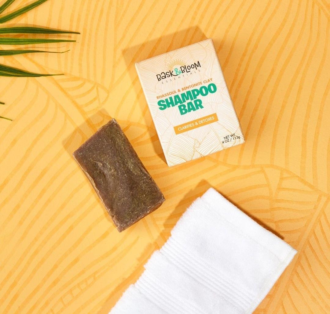 the shampoo bar and a towel