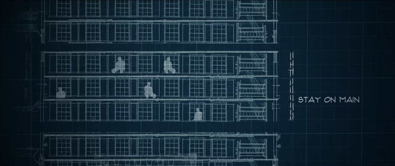 A blueprint of the Stay on Main within the Cecil Hotel