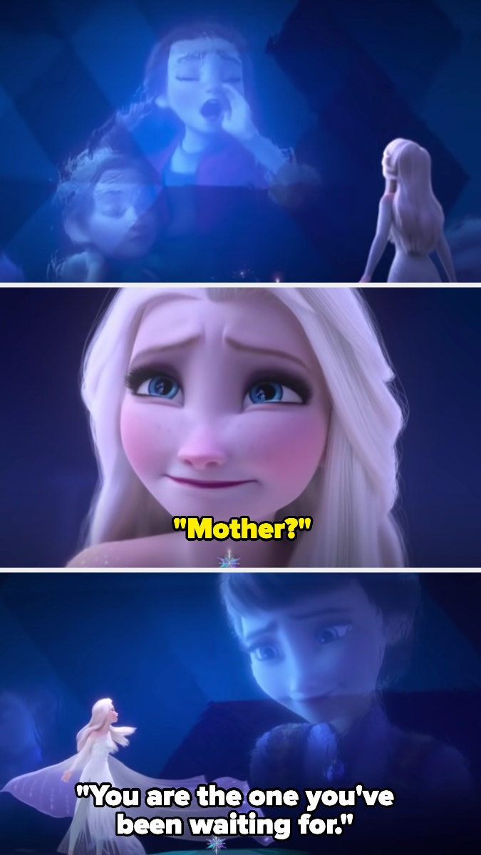 """Elsa hears her mother sing and tell her that """"you are the one you've been waiting for"""""""