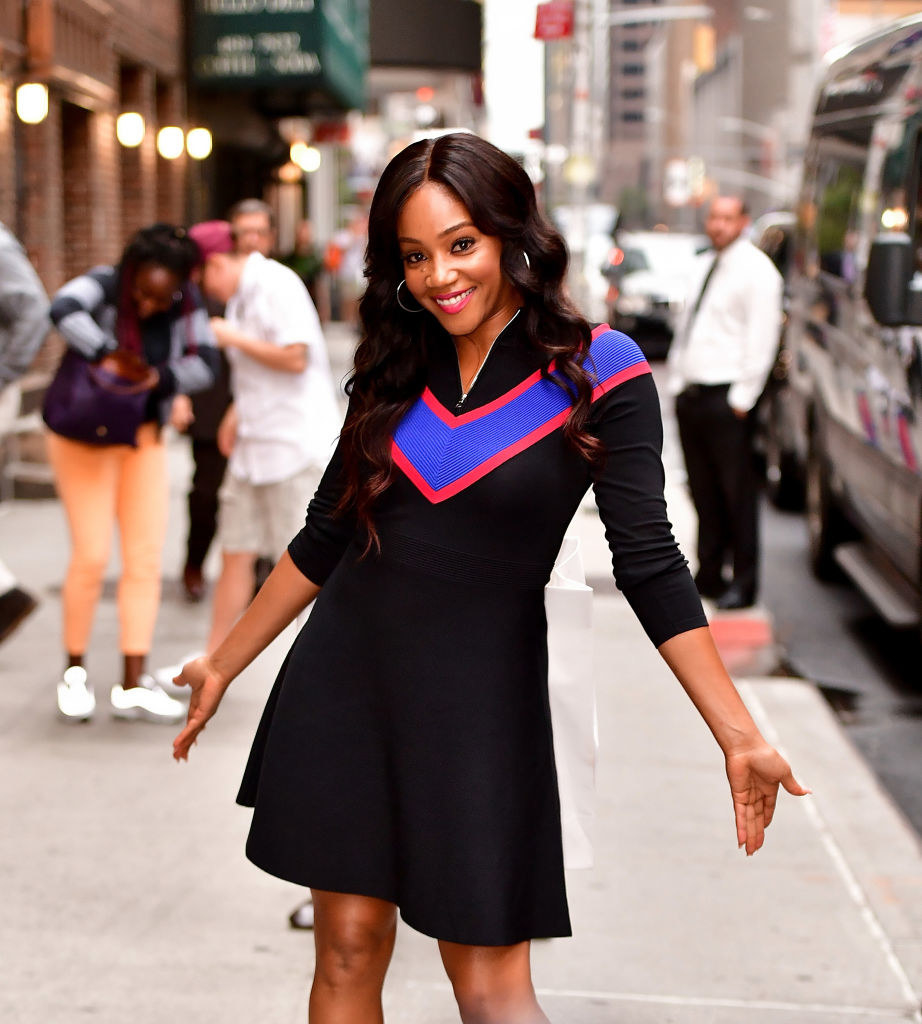 Tiffany Haddish leaving the 'The Late Show With Stephen Colbert'