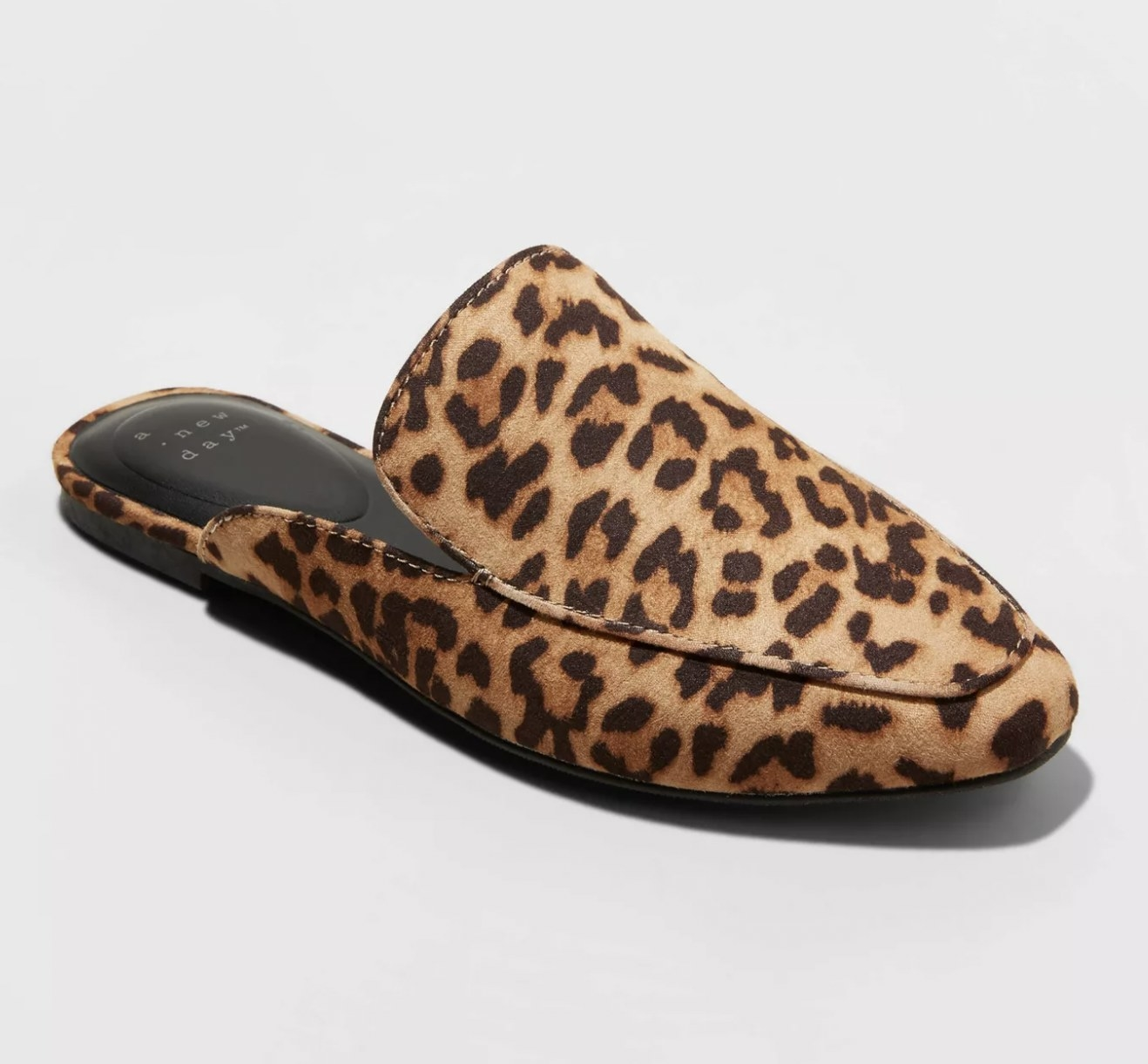 Slip on shoes with animal print